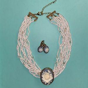 Vintage Cameo Jewelry Set